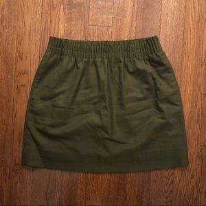 J.Crew Green Sidewalk Skirt